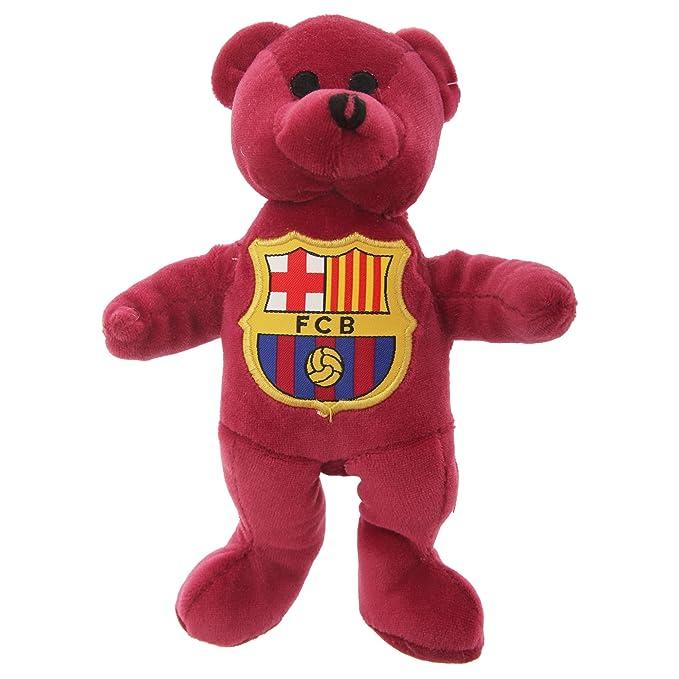 FC Barcelona - Osito de peluche Oficial del FC Barcelona de felpilla y escudo en el