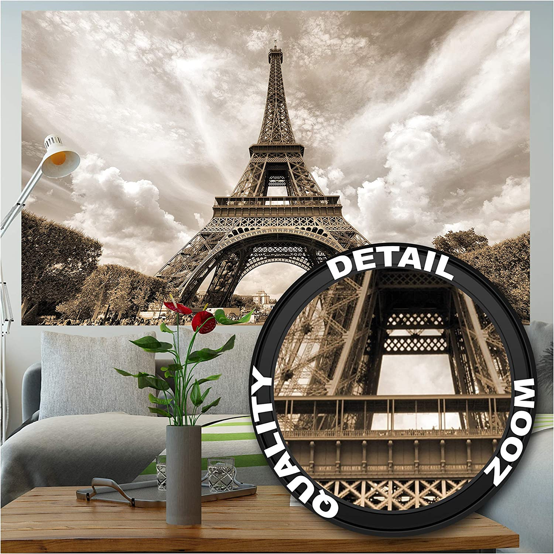 Eiffel Tower Wall Mural Paris Tower City Mural Photo Wallpaper Decor Poster