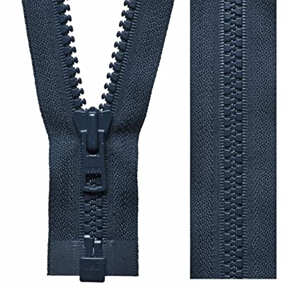 K-Y Cremalleras para Abrigo de Alta Resistencia, Color Azul Marino Oscuro YKK Vislon (46