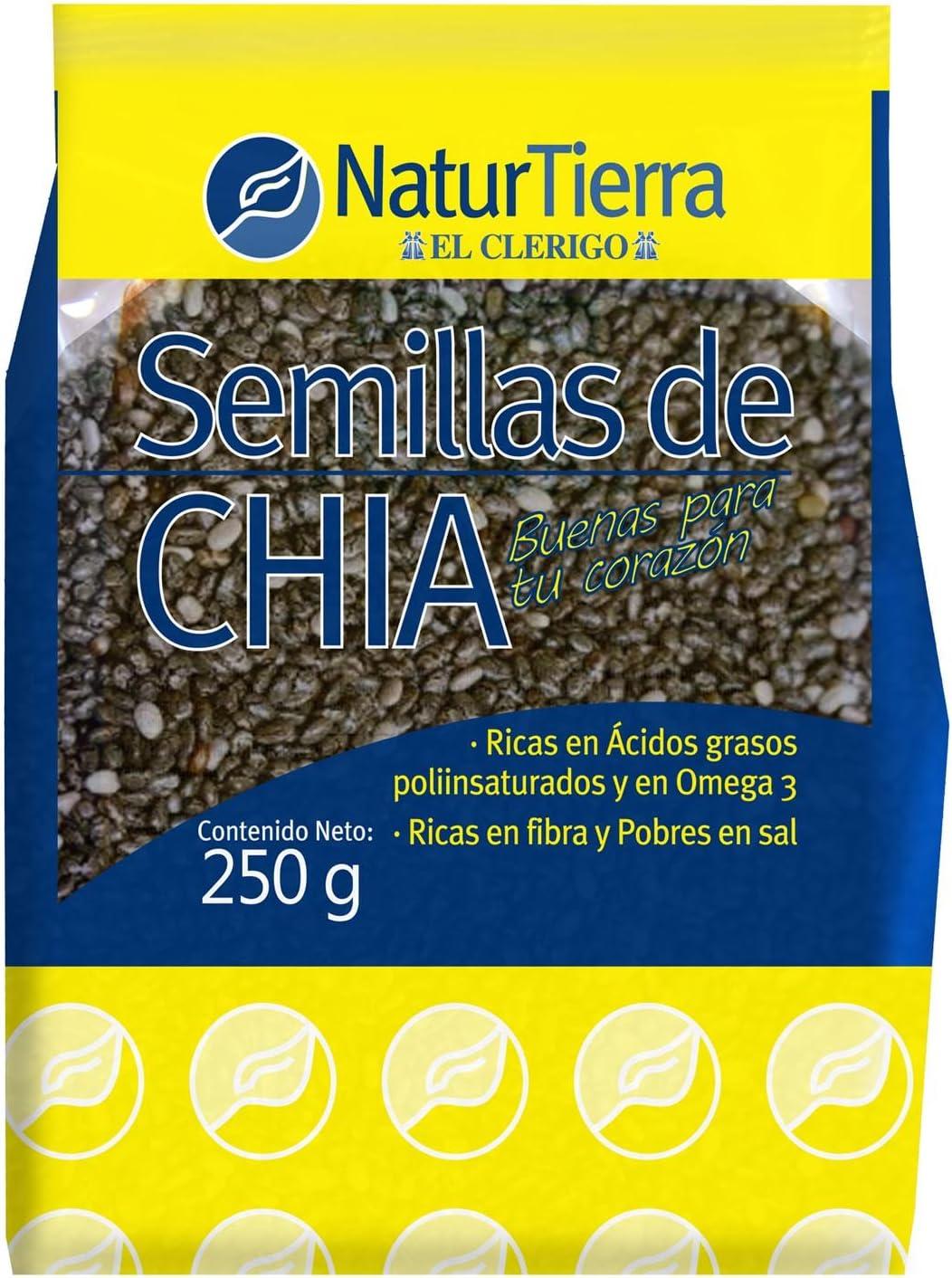 Semillas de Chia 100%Naturales Naturtierra El Clérigo 250g: Amazon.es: Salud y cuidado personal