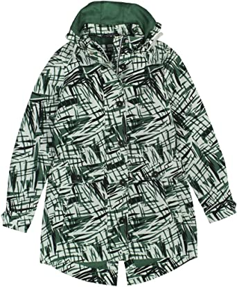 Tommy Hilfiger NEW Green Womens Hooded Printed Parka Jacket