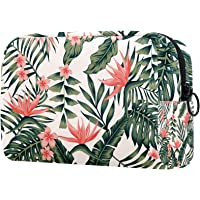 Toiletry Bag Cosmetic Travel Makeup Organizer Wash Bag Pouch with Zipper Tropical Leaf for Travel Accessories Essentials