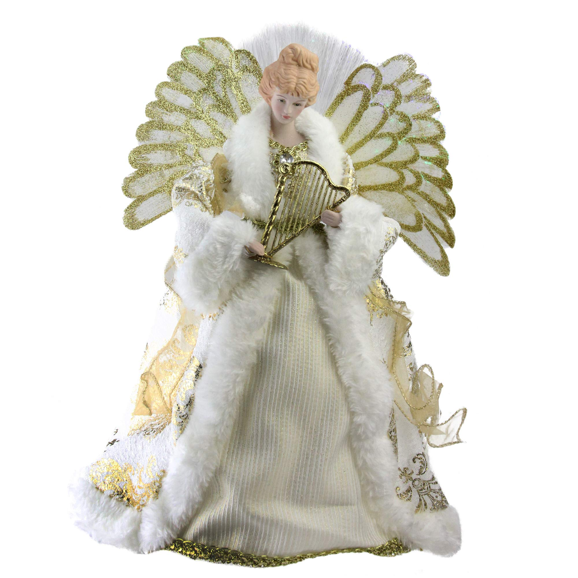 Northlight NL00919 Fiber Optic Angel in Gown Christmas Tree Topper