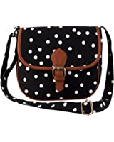 Lychee Bags Women's Sling Bag (Black,Lbhbcp14Po): Amazon.in ...