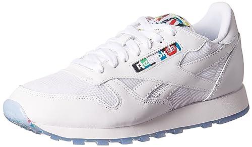 Reebok Zapatillas de Material Sintético Para Hombre, Color Blanco, Talla 44.5 EU