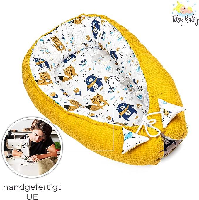 Babynest Cotton Waffel für Babys und Säuglinge Kuschelnest Nestchen Reisebett