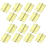 HOODDEAL 30pcs Mini Cabinet Drawer Butt Hinges Multifuction Accessories,18 x15 mm