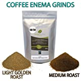 COFFEE ENEMA GRINDS - LIGHT GOLDEN ROAST/MEDIUM ROAST - 50/50 - GERSON - AIR ROASTED - ORGANIC - FAIRTRADE by James Health 1000 Plus (400 grams)
