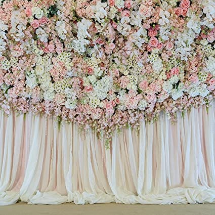 Amazoncom Flower Curtain Backdrop Decoration Wedding