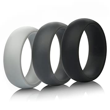 mens silicone wedding rings wedding bands 5 pack 4