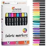 20 Fabric Markers Pens Set - Non Toxic, Indelible and Permanent Fabric Paint Fine Point Textile Marker Pen - Pens Fine Point