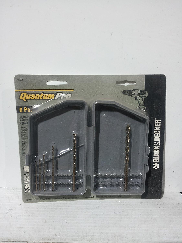 Black & Decker Quantum Pro 6pc. Cobalt Drill Bit Set #Q1096