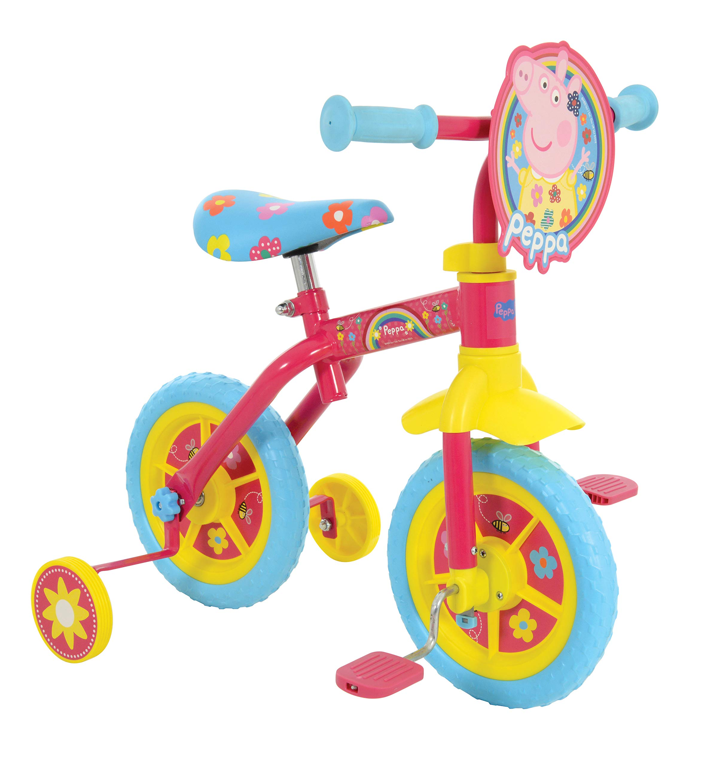 """Peppa Pig M004176 2in1 10inch Bike 2 in 1 10"""", Pink"""