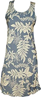 product image for Paradise Found Womens Tiare Short Tank Dress Pewter Blue L