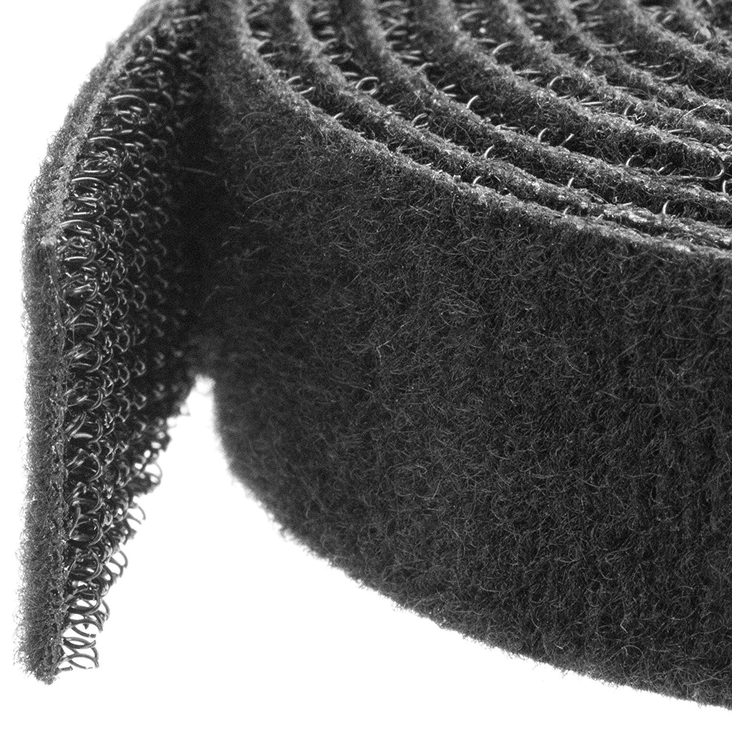 StarTech.com Hook-and-Loop Cable Management Tie - 100 ft. Bulk Roll - Black - Cut-to-Size Cable Wrap / Straps