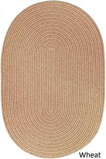 product image for Rhody Rug Woolux Wool Oval Braided Rug (5' x 8') - 5' x 8' Oval Wheat