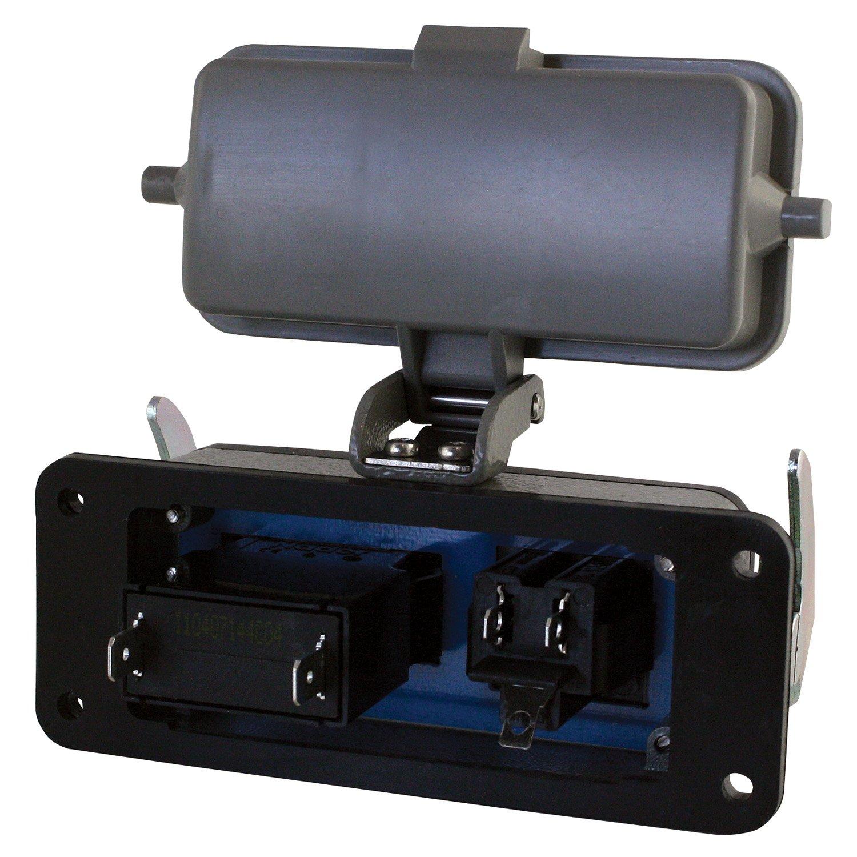 NEMA 4 ASI RAI-SAC-104-B Through Panel Circuit Breaker and Single AC Outlet 4X 5 amp Breaker IP65 Rating 15 amp AC Outlet