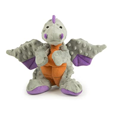 goDog Dragons With Chew Guard Technology Durable Plush Squeaker Dog Toys