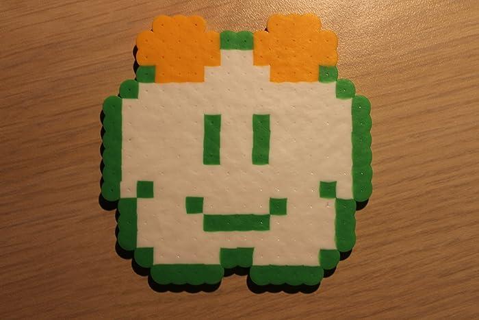 Lakitu Cloud Pixel Art Bead Sprite from Super Mario Bros