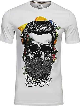 t-shirt tête de mort homme 13