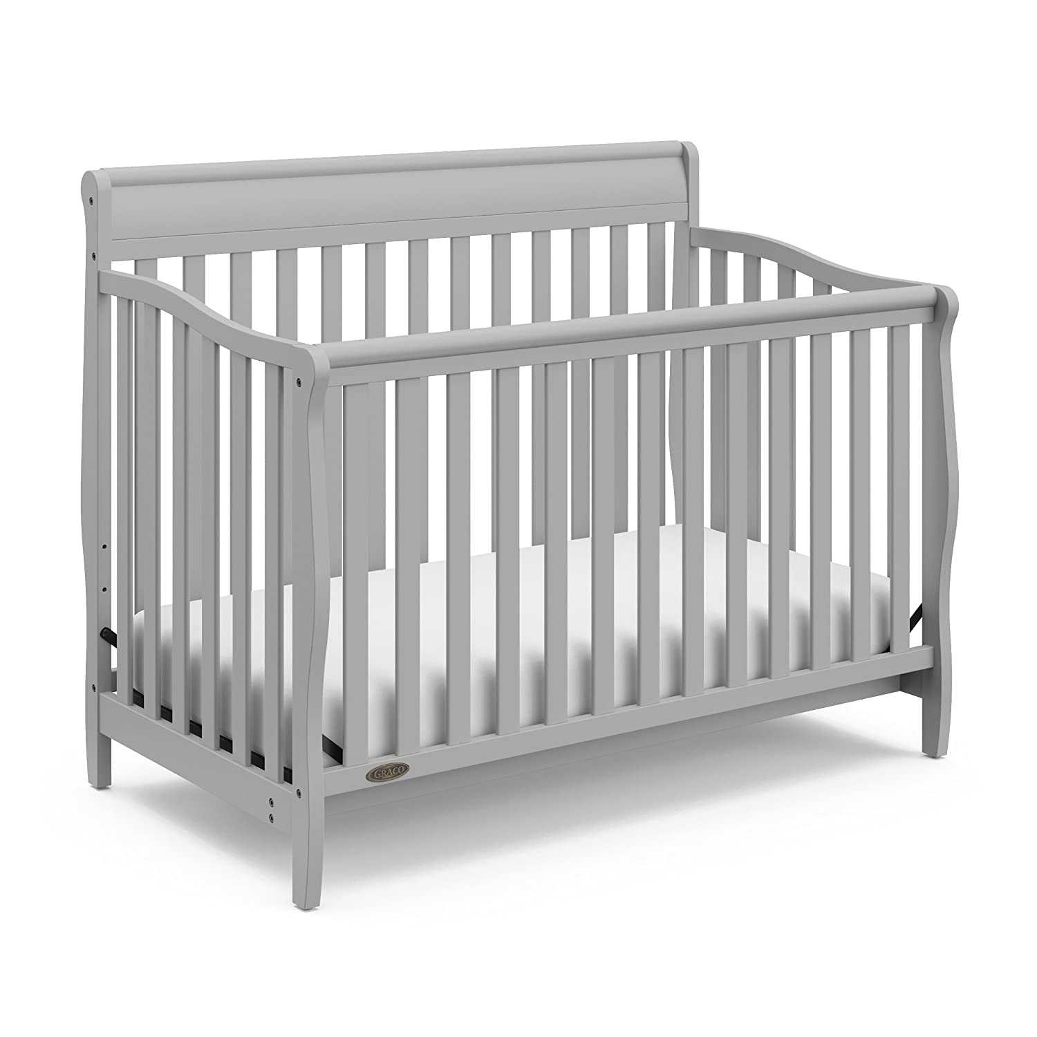 Graco Stanton 4-in-1 Convertible Crib, Pebble Gray 04530-66F