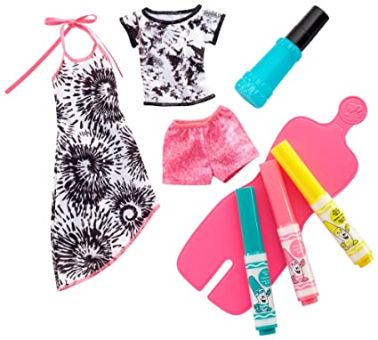 bf559fa20109 Amazon.com  Barbie Crayola Tie Dye Fashions