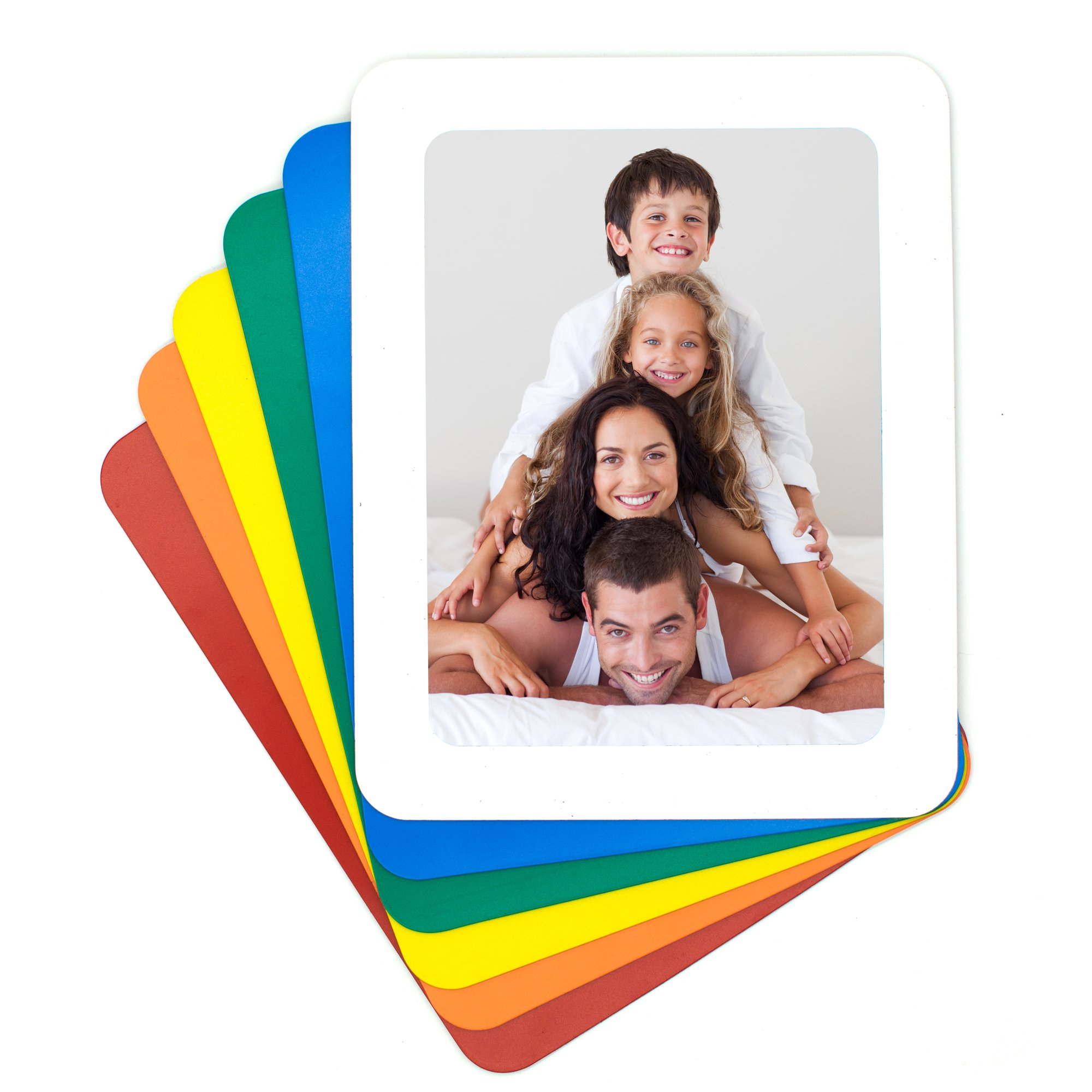 TOPINSTOCK 6 Pack Magnetic Picture Frames for Refrigerator 6 Colors Holds 5x7 Pictures Photo Frames by TOPINSTOCK