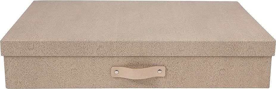 Bigso Box of Sweden Sverker - Caja de documentos (tamaño A3), Pale Oak, W44cm x D31cm x H9cm: Amazon.es: Hogar