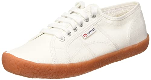 Superga 2750 Naked Cotu Sneakers Low Top da Donna, Colore Bianco (Weiß),