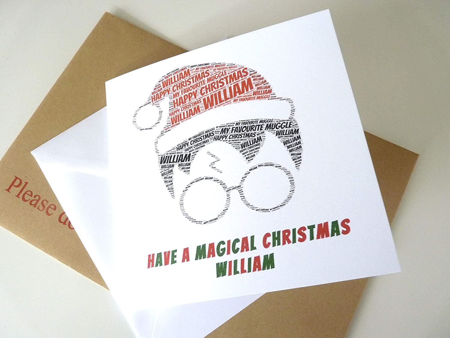 personalized harry potter inspired christmas card