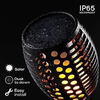 2Pk. Supersun Solar Torch Tiki Lights
