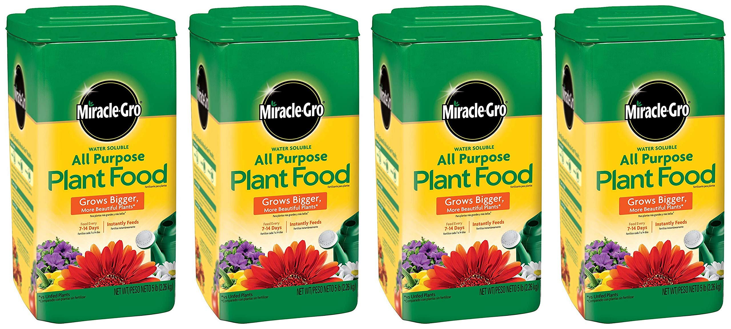 Miracle-Gro 1001233 All Purpose Plant Food - 5 Pound (4 Pack)