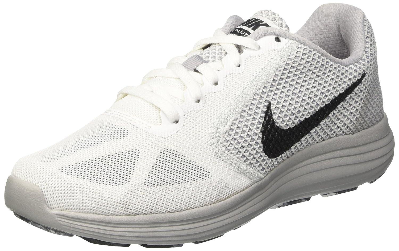 Nike Revolution 3, Zapatillas de Running para Hombre 45.5 EU Blanco (White/Mtlc Hematite/Wolf Grey/Black)