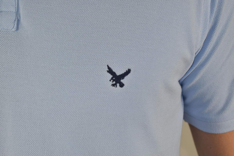 Polo Manica Corta Tinta Unita Classic Fit vasto assortimento Taglie e Colori 1stAmerican Polo Mezza Manica da Uomo 100/% Cotone Piquet Tinto in Capo