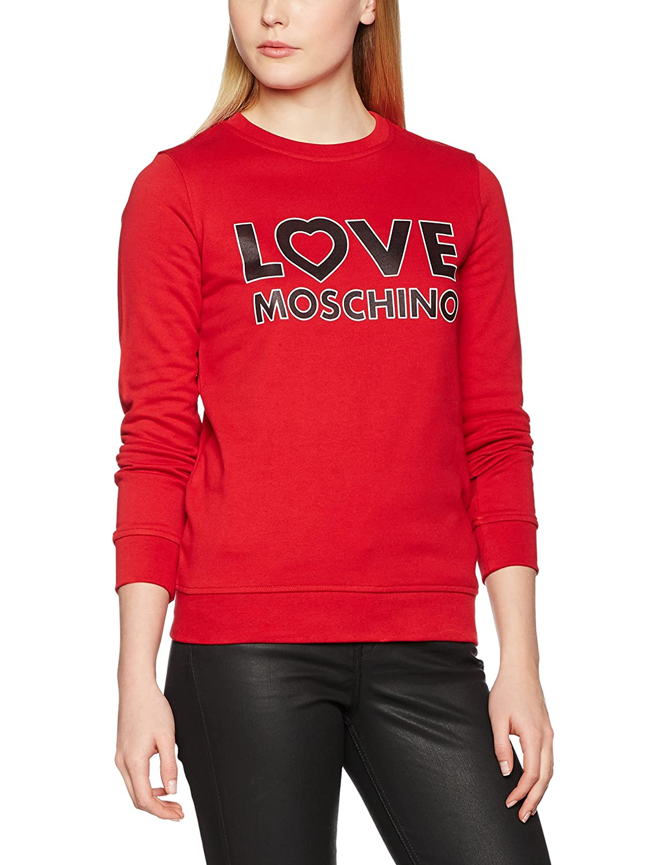 Love Moschino Damen Sweatshirt Stampa Logo