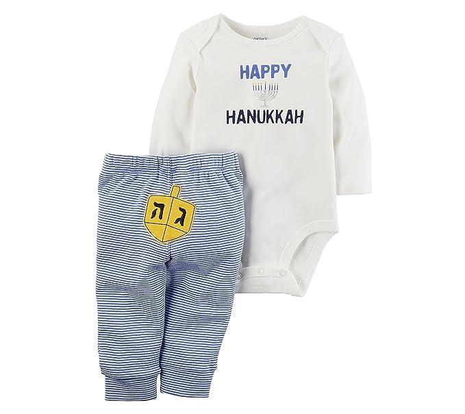 145b09252 Amazon.com  Carter s Baby 2 Piece Long Sleeve Hanukkah Bodysuit and ...