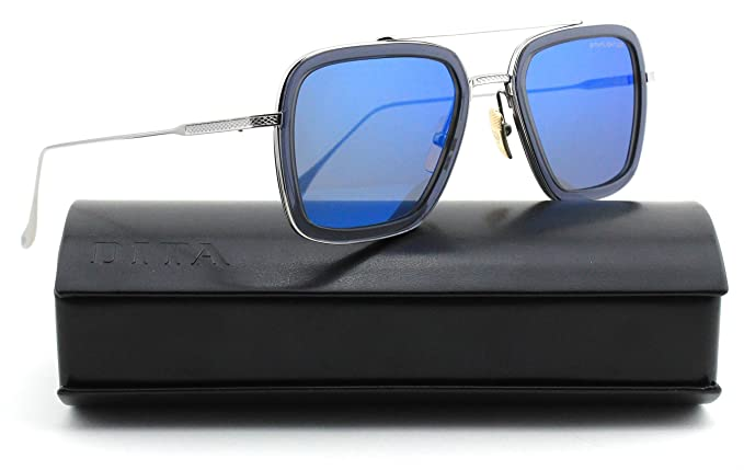 3ad8e7eda16b Dita Flight 006 Unisex Sunglasses Dark Grey Blue Mirror Lens 7806-A ...