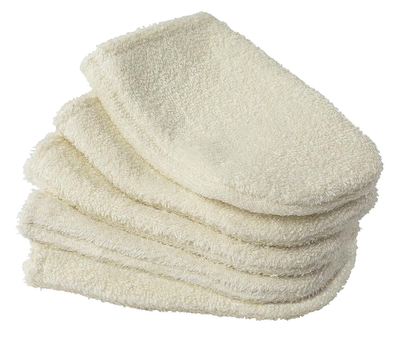 Abadía de sept-fons tu0030–Lote de 5pequeños guantes de demaquiller color crudo algodón ecológico crudo 0, 5x 15, 5cm TURBANEO