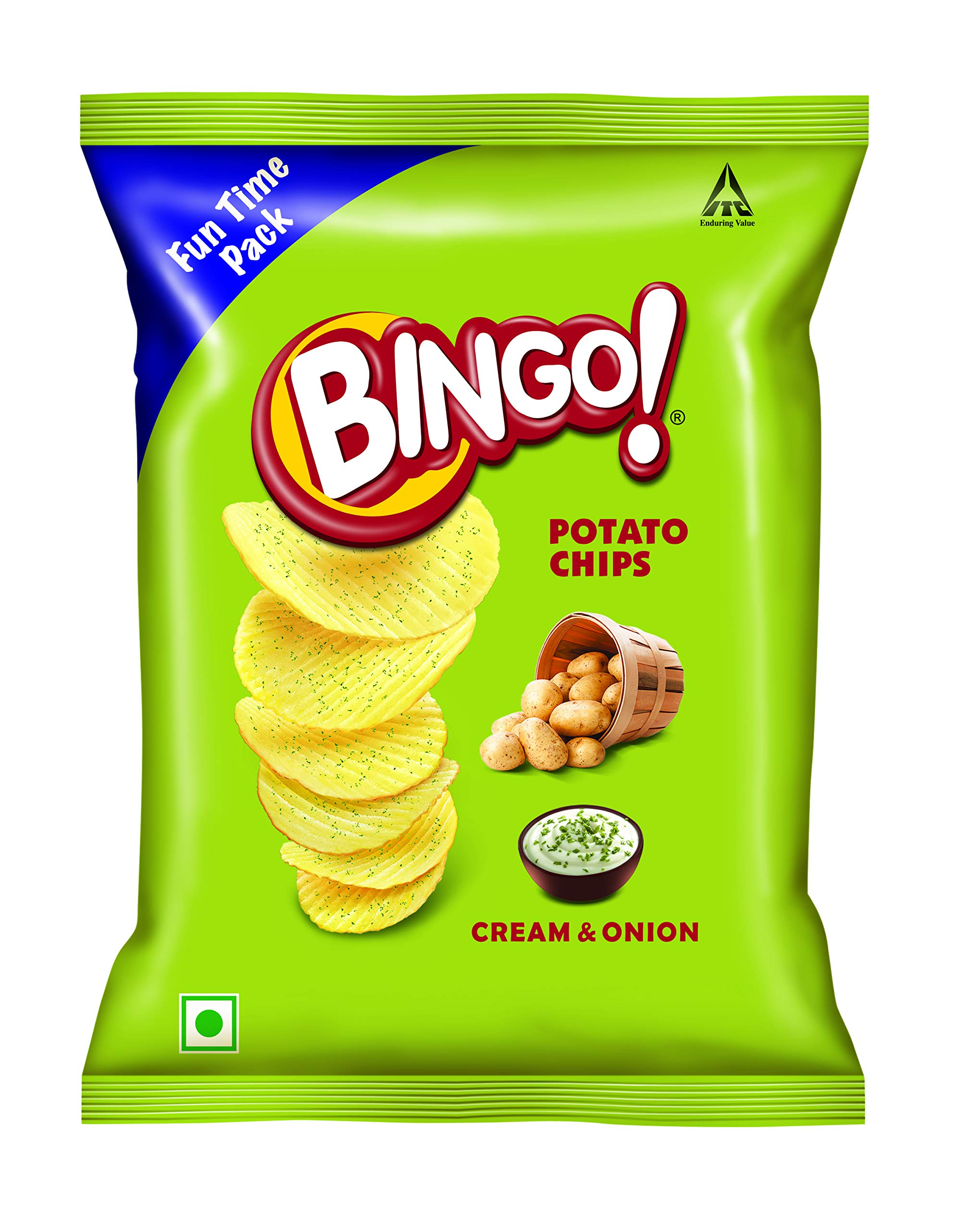 Amazon price history for Bingo Potato Chips Cream & Onion, 130 g
