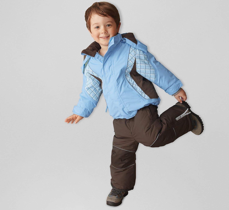 Baby Snow Suit 6-12 Months Ski Jacket & Salopettes Pants, Weather Resistant Light Blue/Brown Tchibo 267458