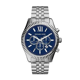 d6c9c5a1b7d24 Amazon.com: Michael Kors Men's Lexington Silver-Tone Watch MK8280 ...