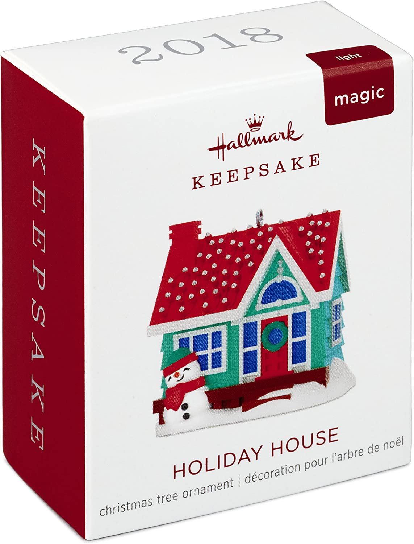 2018 Hallmark Holiday House Magic Miniature Ornament Lights Snowman WELL PACKED