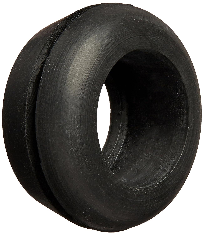 """Hydrofarm HGGR75 (25 Pack), 3/4"""" Rubber Grommet, Black"""