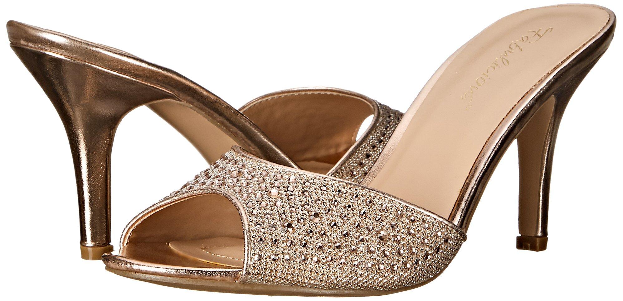 Fabulicious Women's LUCY01/Ggfa Dress Sandal, Gold Glitter Mesh Fabric, 9 M US by Fabulicious (Image #6)