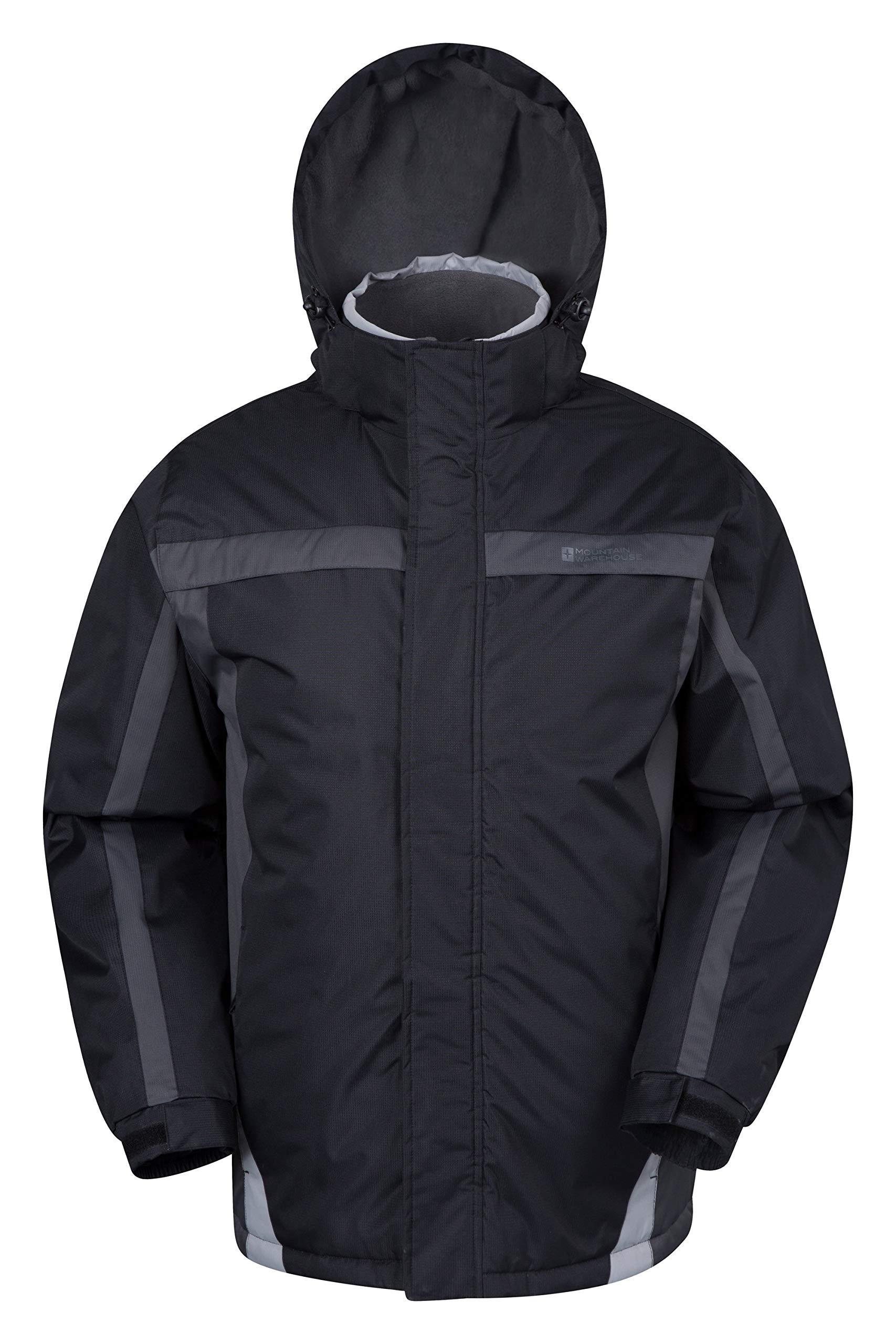 Mountain Warehouse Dusk Mens Ski Jacket - Water Resistant Winter Coat Black Small by Mountain Warehouse