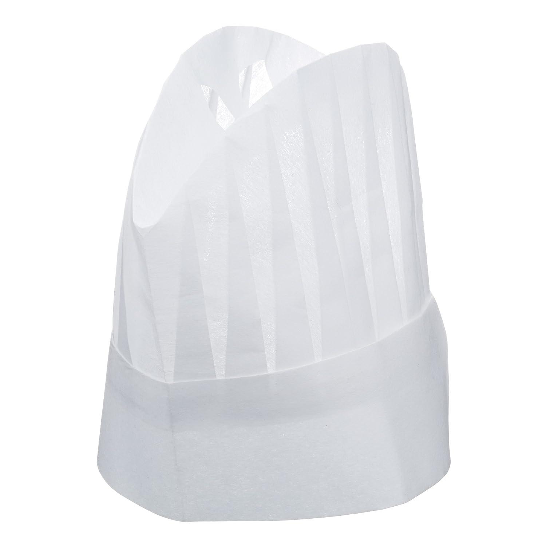 Kitchen Craft - Cappelli da Cuoco in Carta, Colore: Bianco KCCHEFHATPK5