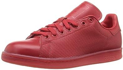 adidas Originals Men's Stan Smith Adicolor Fashion Sneaker, Scarlet/Scarlet/ Scarlet, 14