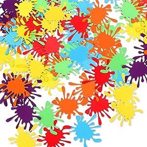 50Pcs Paint Splatter Confetti - Paint Confetti/Art Party Decor/Art Confetti/Paint Birthday Party Decor/Art Birthday Party Decorations