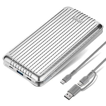 Zendure A6PD 20100mAh Batería Externa Cargador Movil Portátil con Puerto USB-C 2.0 y Carga rápida 3.0 para iPhone, iPad, Huawei, Samsung, Sony, LG, ...