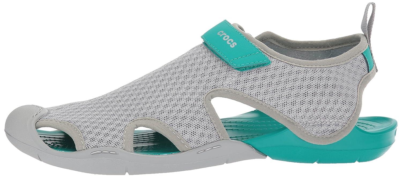 Crocs Women's Swiftwater Mesh Sandal B072J4RGR1 6 B(M) US|Light Grey